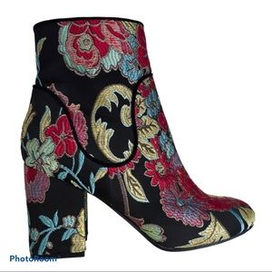 Marc Fisher Floral Embroidered Jana Ankle Booties